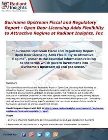 Suriname Upstream Fiscal and Regulatory Report