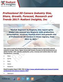 Professional 3D Camera Industry Size, Share, Growth, Forecast 2017