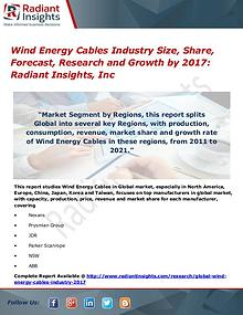 Wind Energy Cables Industry Size, Share, Forecast, Research 2017