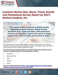 Linoleum Market Size, Share, Trend, Growth 2017
