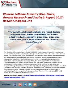 Chinese Lethane Industry Size, Share, Growth Research Report 2017