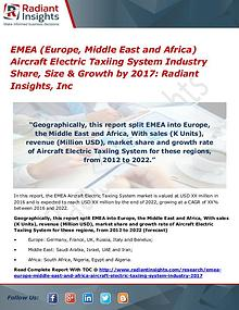 EMEA Aircraft Electric Taxiing System Industry 2017
