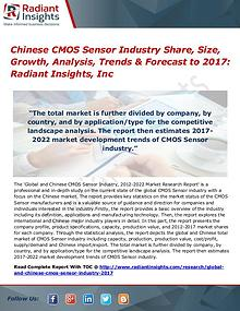 Chinese CMOS Sensor Industry Share, Size, Growth, Analysis 2017