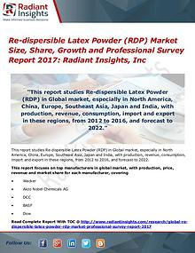 Re-dispersible Latex Powder (RDP) Market Size, Share, Growth 2017