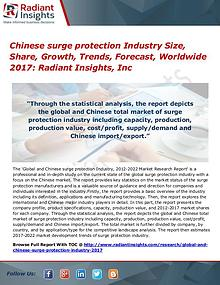 Chinese surge protection Industry Size, Share, Growth, Trends 2017