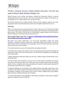 Wireless Telecom Services Market Research, Growth and Analysis Report