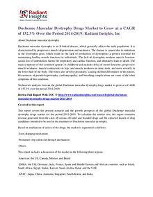 Duchenne Muscular Dystrophy Drugs Market 2019