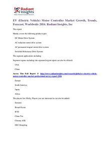 EV (Electric Vehicle) Motor Controller Market 2016