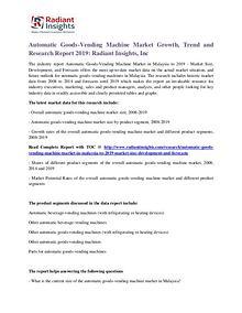Automatic Goods-Vending Machine Market Growth, Trend 2019