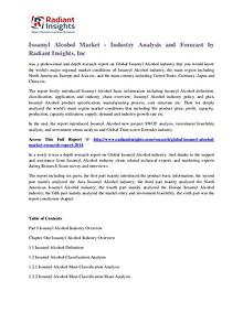 Isoamyl Alcohol Market - Industry Analysis and Forecast