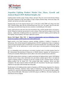 Argentina Lighting Product Market Size, Share, Growth 2019