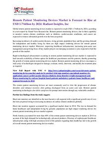Remote Patient Monitoring Devices Market is Forecast to 2024