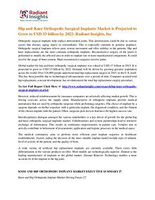Hip and Knee Orthopedic Surgical Implants Market 2022