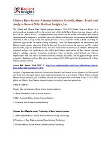 Chinese Base Station Antenna Industry Growth, Share, Trend 2016