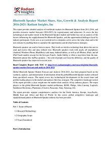 Bluetooth Speaker Market Share, Size, Growth & Analysis Report 2021