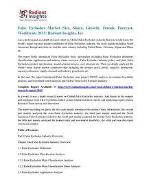 False Eyelashes Market Size, Share, Growth, Trends, Forecast 2015