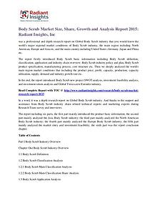 Body Scrub Market Size, Share, Growth and Analysis Report 2015