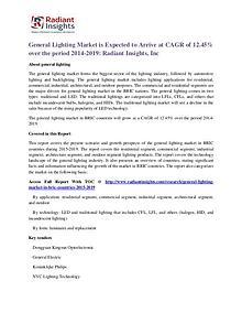 General Lighting Market is Expected to Arrive at CAGR of 12.45%