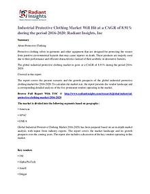 Industrial Protective Clothing Market Will Hit at a CAGR of 8.91%
