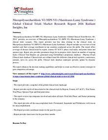 Mucopolysaccharidosis VI (MPS VI) (Maroteaux-Lamy Syndrome )Clinical
