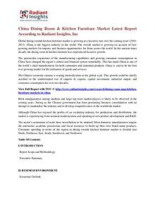 China Dining Room & Kitchen Furniture Market Latest Report