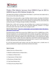 Window Film Industry Increases From 130000 K Sq.m in 2011 to 160000