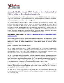 Automated Guided Vehicle Market to Grow Substantially at USD 1.5