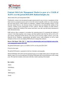 Contract Life-Cycle Management Market to Grow at a CAGR of 16.35%