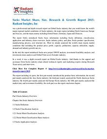 Socks Market Share, Size, Research & Growth Report 2015