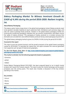 Bakery Packaging Market to Witness Imminent Growth at CAGR of 4.34%