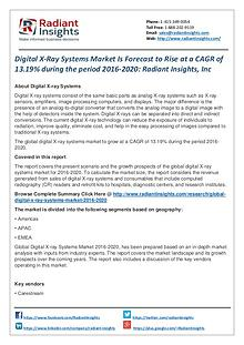 Digital X-Ray Systems Market is Forecast to Rise at a CAGR of 13.19%