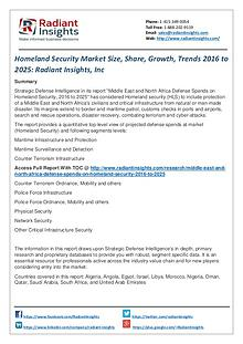 Homeland Security Market Size, Share, Growth, Trends 2016 to 2025