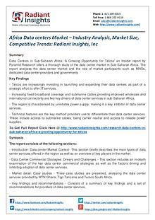 Africa Data Centers Market – Industry Analysis, Market Size