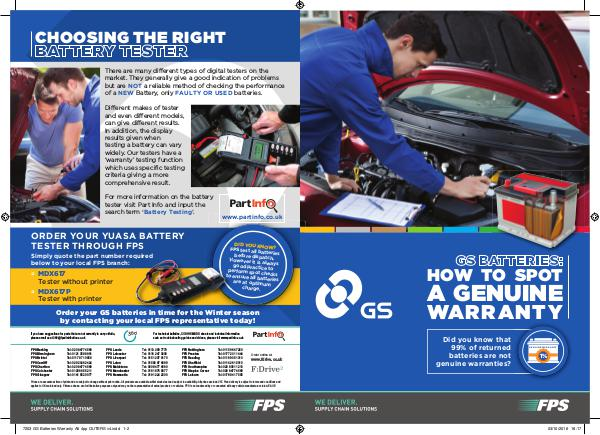FDrive GS BATTERIES: HOW TO SPOT A GENUINE WARRANTY