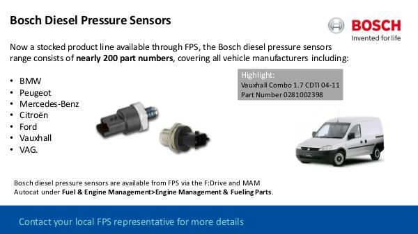 FDrive Bosch Diesel Pressure Sensors