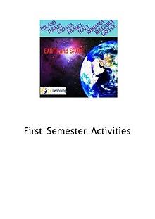 First Semester Activities