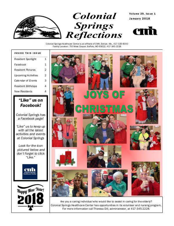 Colonial Springs Reflections January 2018