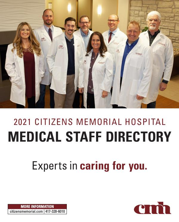 Citizens Memorial Hospital Medical Staff Directory 2021