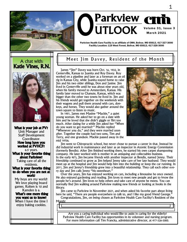 Parkview Outlook March 2021