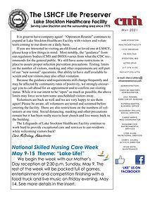 Lake Stockton Healthcare Facility Life Preserver