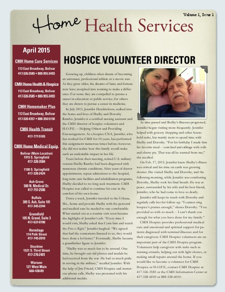 Home Health Services eNewsletter April 2015