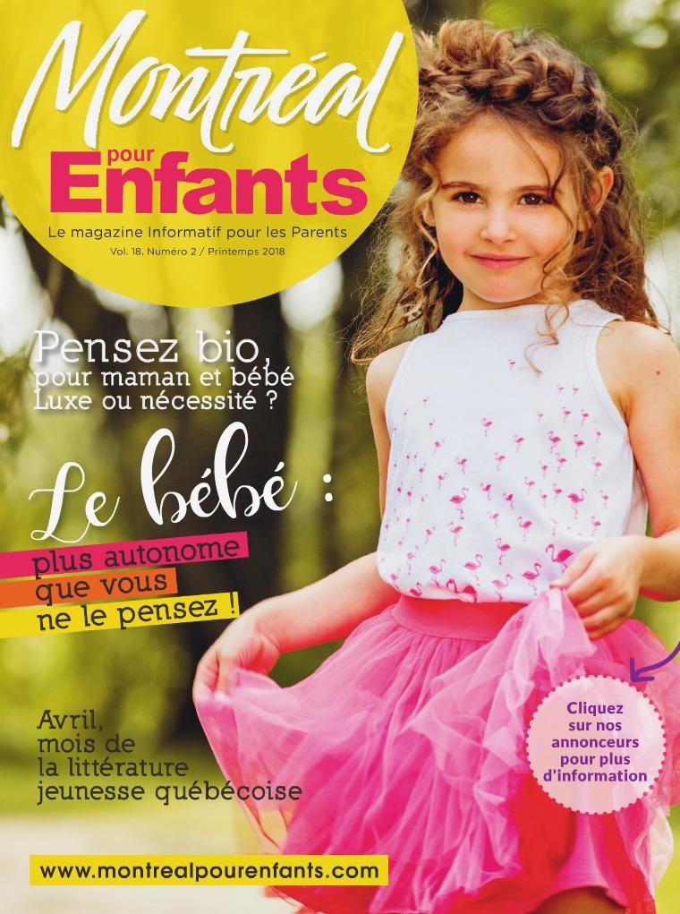 Montréal pour Enfants vol. 18 n°2 Printemps 2018