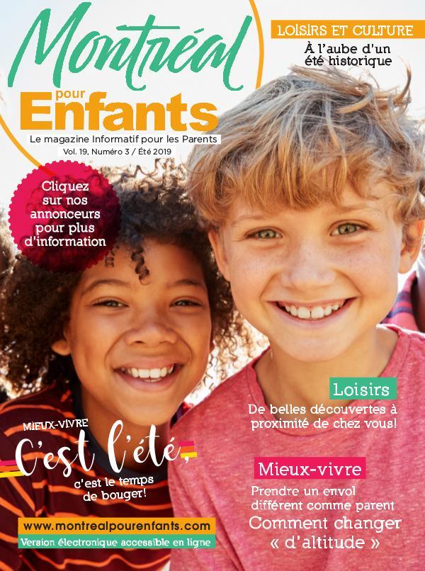 Montréal pour Enfants vol. 19 n°3 Été 2019