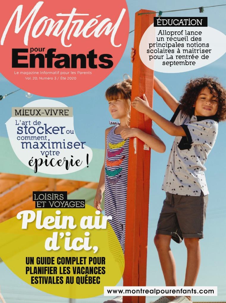 Montréal pour Enfants vol. 20 n°3  Été  /  Vacances en Famille