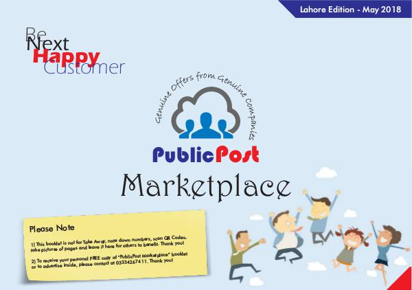 Public Post Marketplace - Lahore Edition - May'18