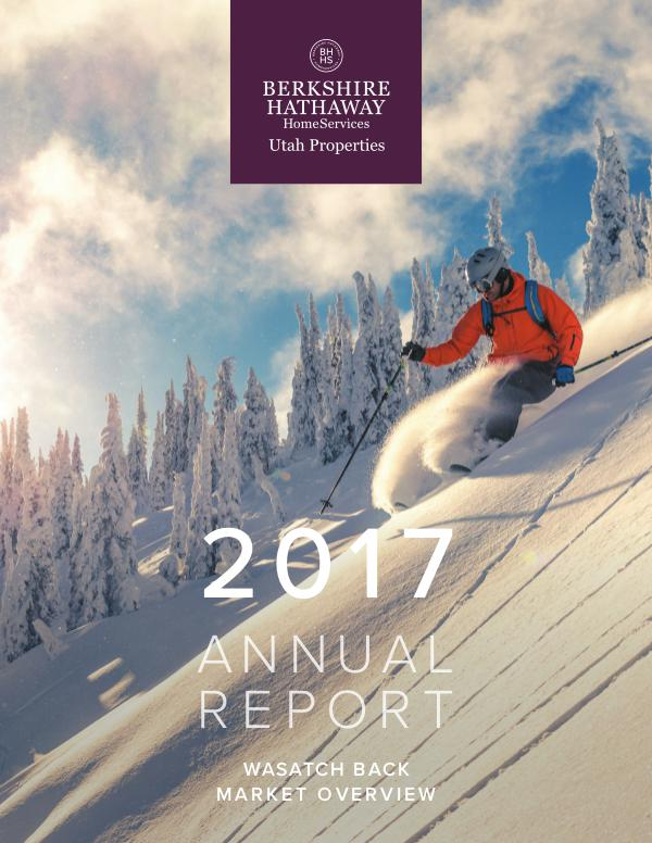 Park City and Heber Valley Market Report 2017 Year End Wasatch Back Market Overview