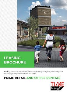 Time Projects Letting / Selling Brochure