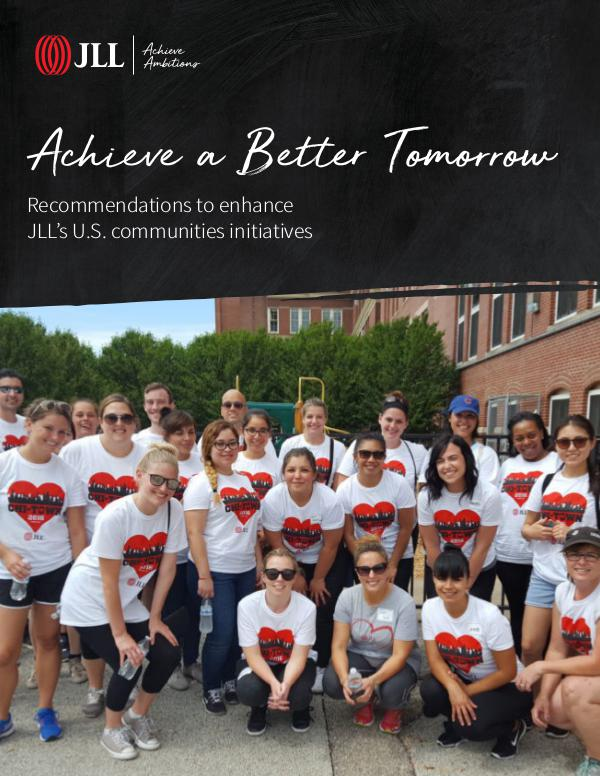 JLL Building a Better Tomorrow - U.S. Recommendation Recommendation