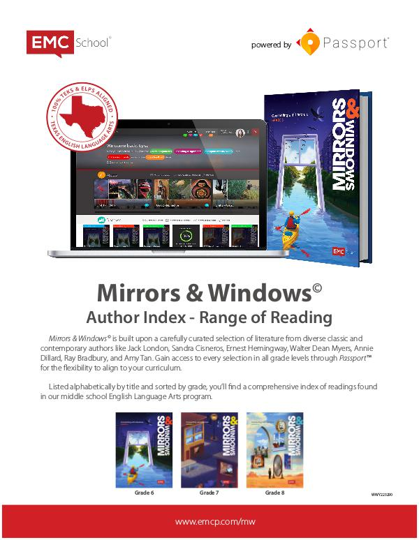 MIRRORS & WINDOWS AUTHOR INDEX