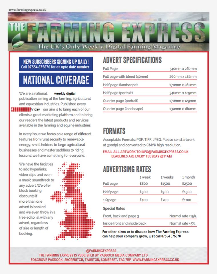 The Farming Express- Media Pack 2015 2015